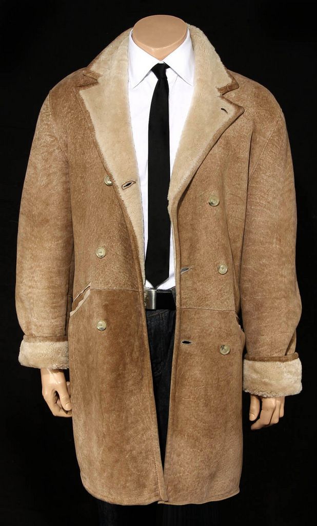 hugo boss lammfell lammfellmantel herren shearling mens lamb fur coat gr 50 m ebay. Black Bedroom Furniture Sets. Home Design Ideas