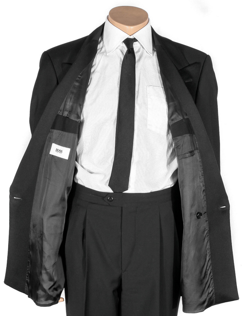 hugo boss armstrong blues herrenanzug anzug hochzeit men 39 s suit 098 s m schwarz ebay. Black Bedroom Furniture Sets. Home Design Ideas