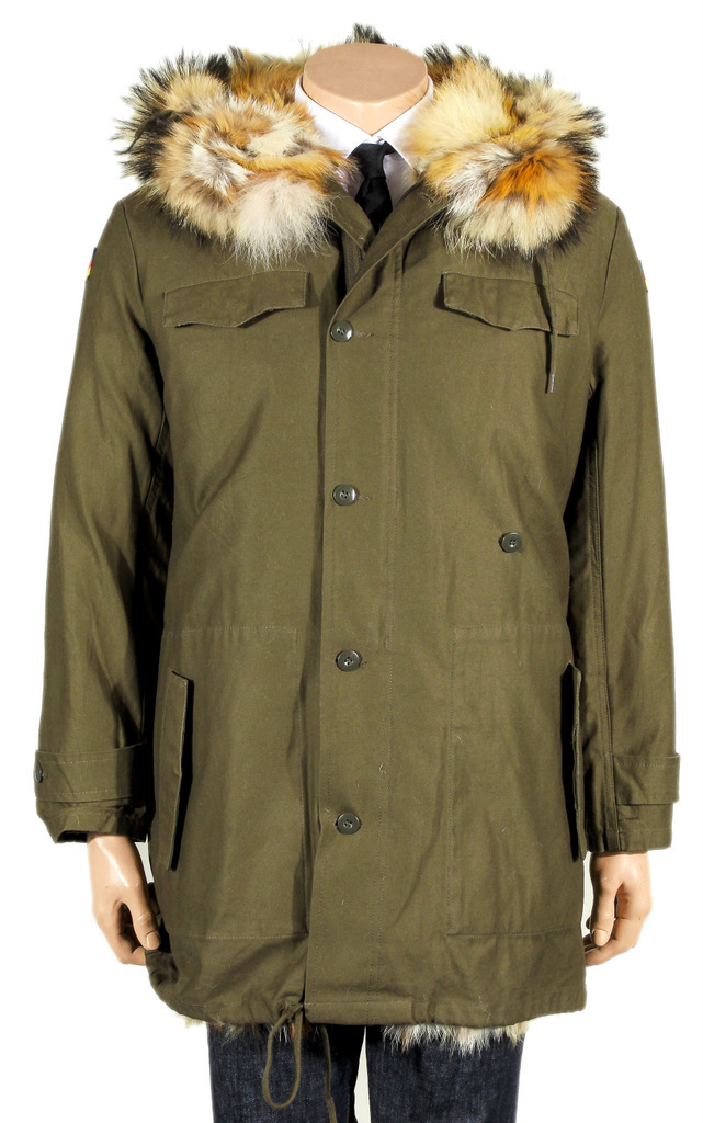 bundeswehr parka echt pelz futter jacke german army fur coat men mantel ebay. Black Bedroom Furniture Sets. Home Design Ideas