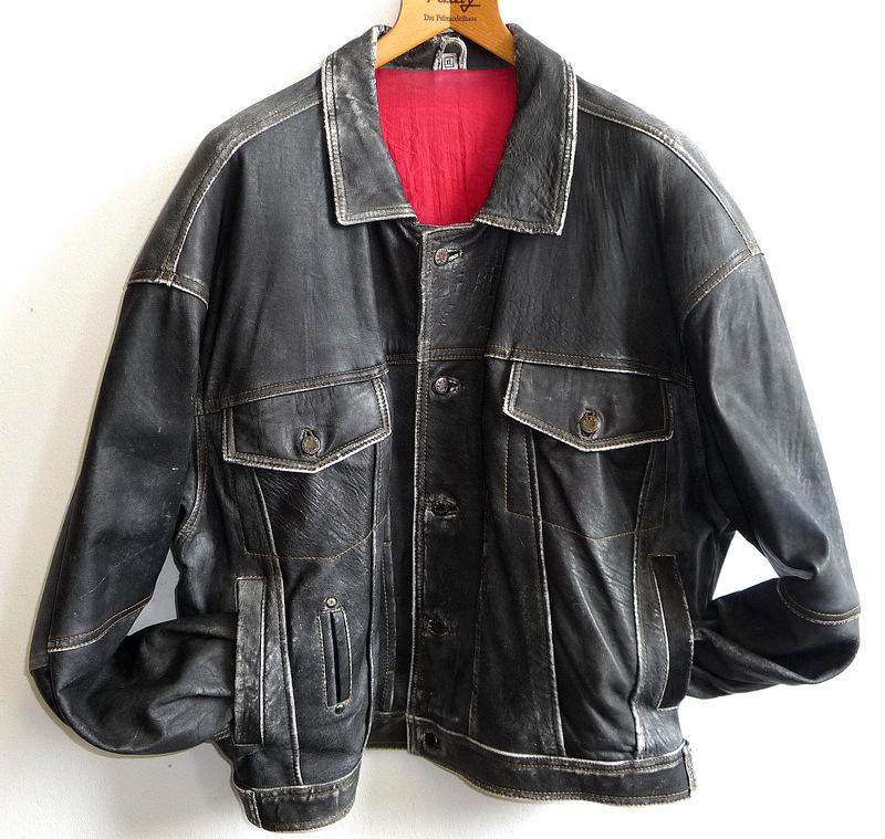 diesel vintage xl lederjacke leder jacke leather jacket. Black Bedroom Furniture Sets. Home Design Ideas