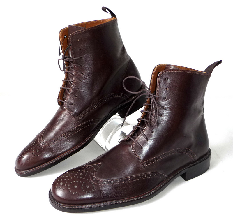 neu 43 zara herren lederschuhe boots schuhe budapester. Black Bedroom Furniture Sets. Home Design Ideas