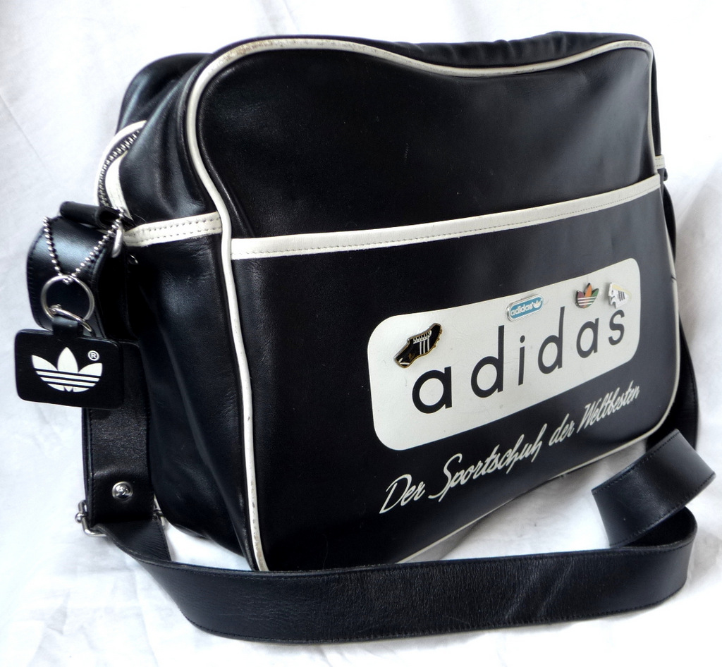 rar adidas tasche schultertasche leder sporttasche bag limitiert vintage sammler ebay. Black Bedroom Furniture Sets. Home Design Ideas
