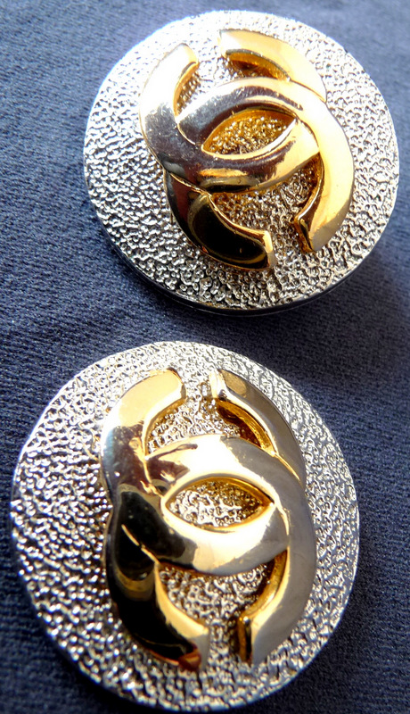 chanel ohrstecker ohrschmuck ohrclips ohrringe ohr gold stud earring golden ebay. Black Bedroom Furniture Sets. Home Design Ideas